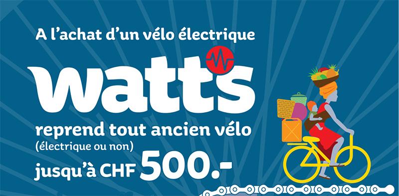 Reprise de votre ancien vélo pour un nouveau WATTS